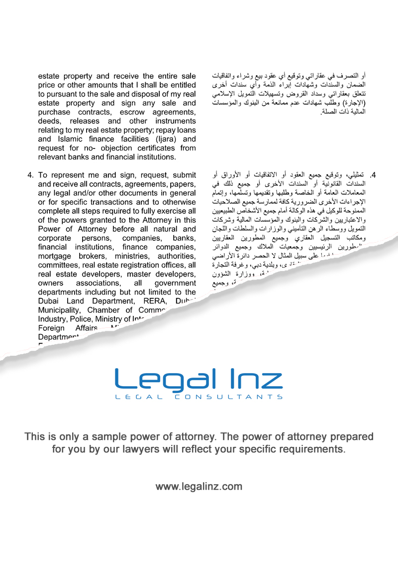 General Power of Attorney Sample 2