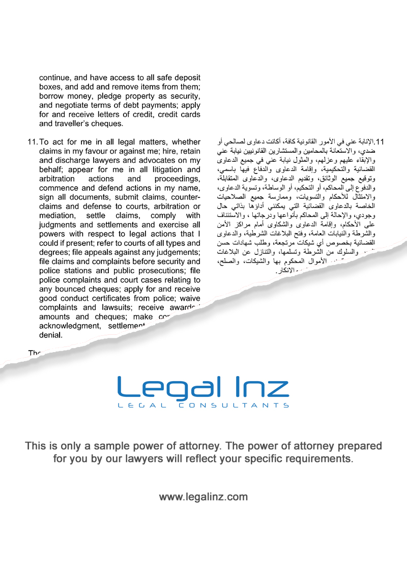 General Power of Attorney Sample 5